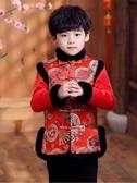 男童唐裝漢服加厚男寶寶新年裝拜年服兒童喜慶童裝棉襖冬裝 交換禮物