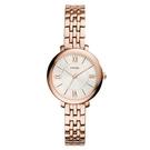 FOSSIL 賈桂琳款經典鋼帶玫瑰金腕錶(ES3799)-玫瑰金/26mm