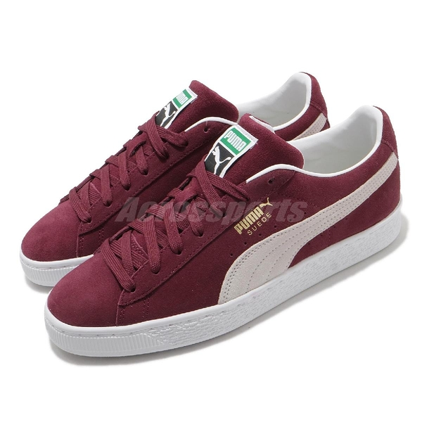 Puma 休閒鞋 Suede Classic XXI 麂皮 酒紅 紅 白 基本款 男鞋 女鞋 運動鞋【ACS】 37491506