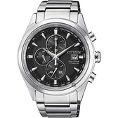 父親節推薦款 CITIZEN 星辰 鈦 光動能計時碼錶-黑x銀/42mm CA0650-82F