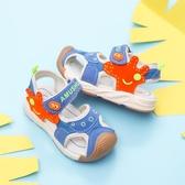 兒童機能涼鞋男童2020新款夏季兒童包頭涼鞋女童鞋軟底寶寶沙灘鞋 韓語空間