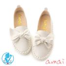 amaiMIT台灣製造。內增高樂福鞋 白