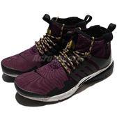 【六折特賣】Nike 魚骨鞋 Air Presto Mid Utility 紫 黑 潑漆中底 休閒鞋 慢跑鞋 男鞋【PUMP306】 859524-600