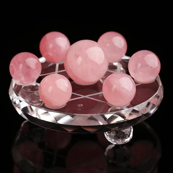 開光天然粉水晶七星陣擺件粉水晶球招桃花穩定感情利姻緣新婚交換禮物