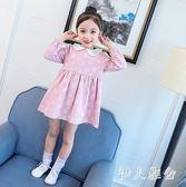 女童洋裝2018新款韓版兒童碎花洋氣長袖公主裙zzy5093『伊人雅舍』