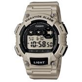 CASIO 專業級震動潮流電子錶-卡其(W-735H-8A2)
