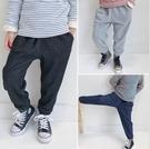 長褲 男童針織牛仔加絨保暖長褲