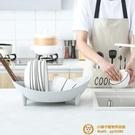 碗架瀝水籃塑料家用瀝水碗盤筷子廚房臺面收納籃【小獅子】