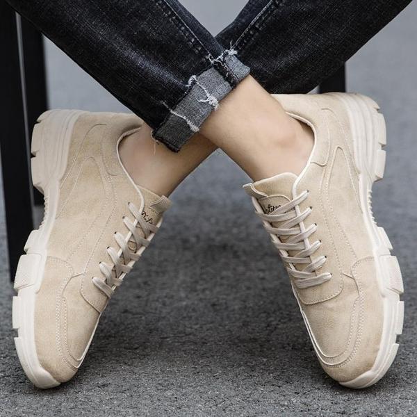 馬丁靴 2021冬新款透氣馬丁靴男鞋低幫休閒皮鞋男運動鞋子男工裝靴潮鞋【快速出貨八折搶購】