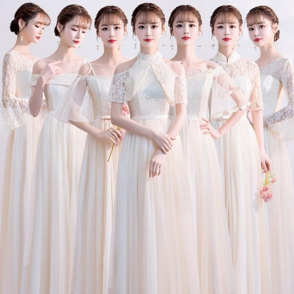 伴娘服 伴娘服長款2020夏季創意ins伴娘團平時可穿簡約大碼仙氣質禮服女 亞斯藍