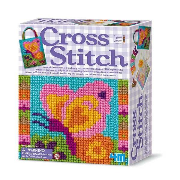 【4M】美勞創作DIY 蝴蝶編織包 Cross Stitch 00-02749