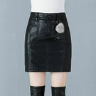 皮裙褲 大碼皮裙女春秋時尚小皮裙女半身裙pu皮包臀高腰a字皮短裙褲