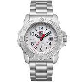 LUMINOX 雷明時NAVY SEAL STEEL 3250全新海豹2代鋼鏈腕錶-白武士/45mm A3258