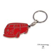 VW Brisa老福斯-T1 Bus 琺瑯鑰匙圈-紅