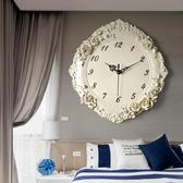 歐式時鐘 創意立體裝飾壁掛鐘錶 客廳臥室靜音時尚藝術石英鐘壁鐘