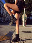 馬丁靴夏季馬丁靴女英倫風學生厚底透氣機車靴子女短靴筒CHIC內增可卡衣櫃