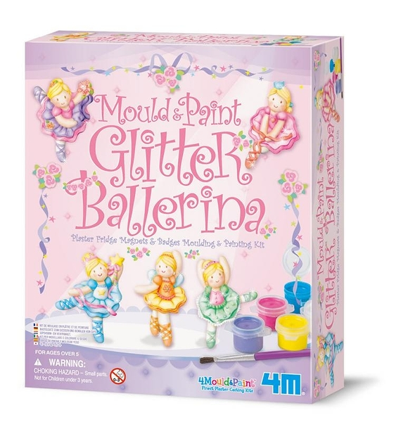 閃亮芭蕾舞星 製作磁鐵 Mould & Paint Glitter Ballerina