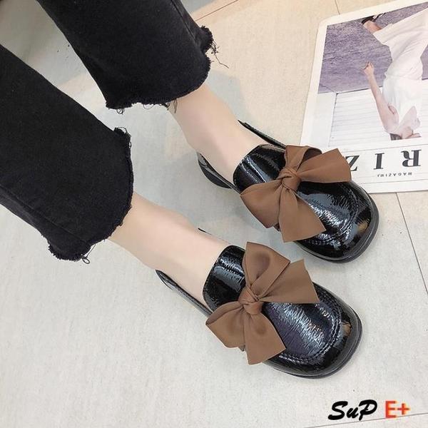娃娃鞋 復古 小皮鞋  百搭 平底 原宿 單鞋