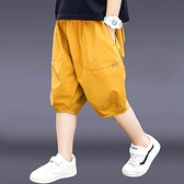 男童短裤 男童短褲外穿2021新款兒童裝夏季燈籠褲休閒寬鬆薄款中大童五分褲