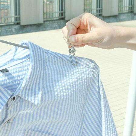 不鏽鋼防風曬衣線夾-小夾子(單入) 曬衣夾 防風夾 夾子 晾衣 曬衣服 居家 不鏽鋼 不銹鋼