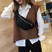 森系小包包女新款潮韓版呢子單肩包腰包時尚百搭斜背包女胸包B196DY-105