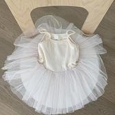韓國童裝2021春夏新款女童蓬蓬網紗洋裝寶寶薄款韓版洋氣吊帶裙16