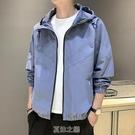 新款外套男夾克早秋韓版潮流春秋休閒運動男士薄工裝服上衣 快速出貨