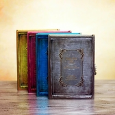 韓國創意精美盒裝密碼帶鎖筆記本學生禮物品復古日記事本加厚【全館免運】