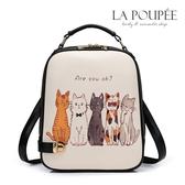 後背包 可愛貓咪插畫A4大容量後背包-La Poupee樂芙比質感包飾 (預購)