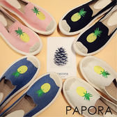 休閒鞋.時尚夏日鳳梨休閒鞋【KY66-4】黑色/白色/藍色/粉色