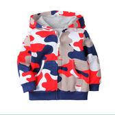 男Baby男童純棉薄外套紅色迷彩運動外套春秋長袖純棉外套休閒外套現貨 歐美品質