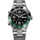 BALL 波爾錶 Roadmaster Marine GMT 瑞士天文台機械錶(DG3030B-S2C-BK)黑x綠-40mm
