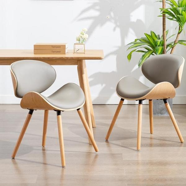 簡藝 歐式餐椅家用實木輕奢餐桌凳椅子現代簡約學生學習椅電腦椅 晴天時尚