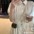 法式復古設計感氣質洋裝女神范新款收腰顯瘦...