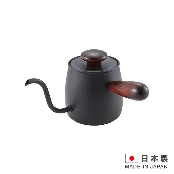 MIYACO日本製造米雅可不銹鋼沖茶咖啡壺0.4L(黑色) FU-MCO-6