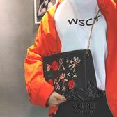 新品鍊條肩背包手工刺繡大容量斜挎女士包包復古風潮包包【1件免運】