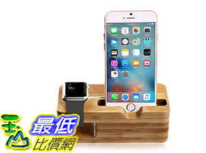 [105美國直購] Aerb Bamboo Wood 木質感 充電座 Charging Stand Bracket Docking Station Stock iPhone Watch yc0454