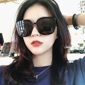 街拍女士偏光太陽眼鏡新款潮款圓臉防紫外線顯瘦大臉時尚墨鏡