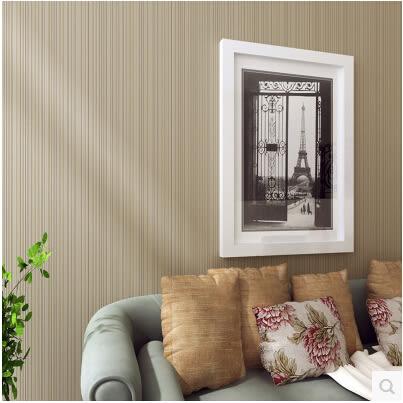 現代簡約素色牆紙 無紡布純色臥室牆紙 客廳電視背景牆豎條紋壁紙