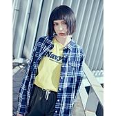 CACO-日系格紋襯衫-情侶款-女【XNA009】