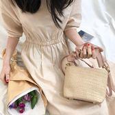草編包包女2019夏季新款斜背包側背手提編織包迷你簡約沙灘包 韓流時裳