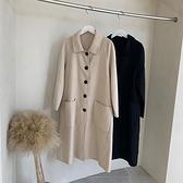 毛呢外套-長版羊毛經典寬鬆復古女大衣2色73zg36[巴黎精品]