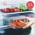 【日本霜山】掀蓋式層疊PET耐凍冰箱蔬果...