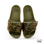 KRUZIN 新竹皇家  KZ SLIDE 墨綠 緞帶 輕量 拖鞋 No.I8036