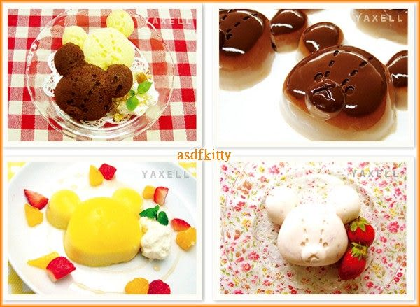 asdfkitty可愛家☆小熊學校4合1矽膠模型-做巧克力.手工皂.冰塊.蛋糕.布丁-日本正版商品