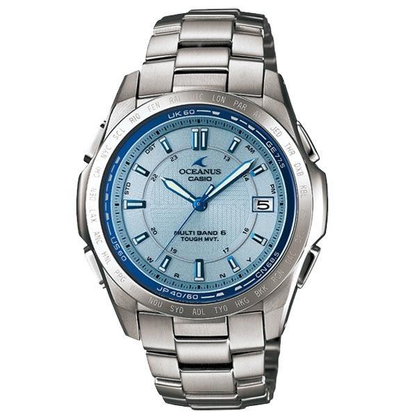 CASIO OCEANUS 動靜之間鈦合金電波腕錶(銀)