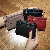 真皮簡約零錢包女式韓版小錢包女士短款迷你鑰匙多功能可愛硬幣包