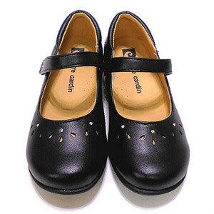 【錢豪童裝童鞋】皮爾卡登pierre cardin 學生黑皮鞋
