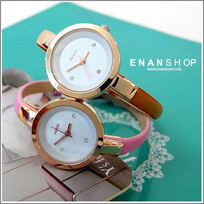香港品牌KEZZI 惡南宅急店 細版皮革手錶水鑽 簡約極致女用錶【0461F】