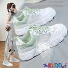 運動鞋 休閒鞋2021年新款百搭老爹運動春夏季鞋子女透氣網鞋ins潮薄款小白女鞋 寶貝 新品